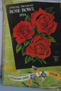 Spander's 1954 Rose Bowl program.