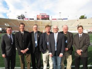 The only seven writers who have covered all 16 BCS championship games.