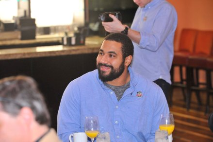The 2013 Campbell Trophy winner, John Urschel of Penn State, attended the FWAA's Annual Awards Breakfast. The Campbell Trophy honors the top academic football player in the country and is awarded by the National Football Foundation. (Photo courtesy of Rose Bowl)