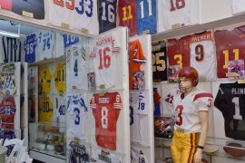 One of the sections at the Newport Sports Museum. (Photo courtesy of the Rose Bowl)