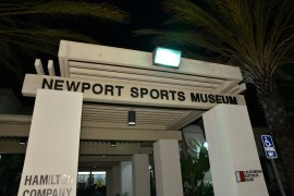 The Newport Sports Museum was the site of the 2013 FWAA/Eddie Robinson Coach of the Year reception on Jan. 3, 2014. (Photo courtesy of the Rose Bowl)