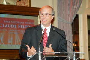 Claude Felton received the FWAA's Bert McGrane Award in 2008.