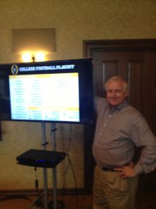FWAA President Kirk Bohls at the mock selection meeting for a College Football Playoff Final Four based on the 2008 season.