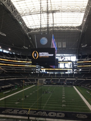 AT&T Stadium in Arlington, Texas, site of the first College Football Playoff championship game on Jan. 12.