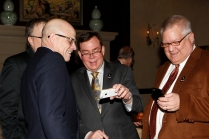 Past Presidents Dennis Dodd (2006), Tony Barnhart (1998) and Tom Shatel (2000). (Melissa Macatee photo)