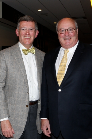 Allstate Sugar Bowl President Judge Dennis Waldron and Sugar Bowl CEO Paul Hoolahan at the FWAA Coach of the Year reception.