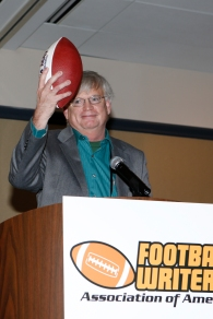 FWAA Beat Writer of the Year Tim May of the Columbus Dispatch. Melissa Macatee photo.