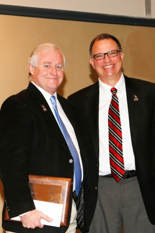 2014 FWAA President Kirk Bohns and 2015 President Lee Barfknecht. Melissa Macatee photo.