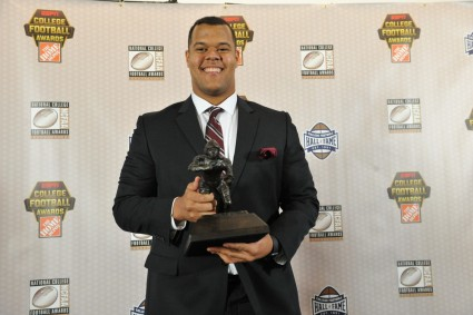 2015 Outland Trophy winner Joshua Garnett of Stanford. (Photo by Richard Ducree / ESPN Images)