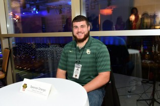 Spencer Drango of Baylor sits for an interview before the College Football Awards Show in Atlanta. (Photo by Phil Ellsworth / ESPN Images)