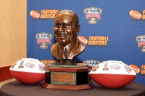 The FWAA's Eddie Robinson Coach of the Year Award. Photo by Melissa Macatee.
