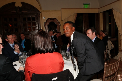 Eddie Robinson III takes a bow a the FWAA's Past Presidents Dinner on Jan. 8 at the Paradise Valley County Club outside Phoenix, Ariz. Photo by Melissa Macatee.