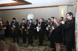 A band provided musical entertainment at the Outland Trophy presentation banquet, sponsored by the Greater Omaha Sports Committee, on Jan. 14 in Omaha. Photo provided by the Greater Omaha Sports Committee.