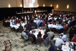 The ballroom at the Downtown DoubleTree Hotel in Omaha was packed for the Outland Trophy presentation banquet on Jan. 14. Photo provided by the Greater Omaha Sports Committee.