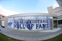 Exterior of the NFF College Football Hall of Fame in Atlanta. (Photo by Phil Ellsworth / ESPN Images)
