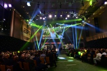A scene from the spectacle during the College Football Awards Show at the National Football Foundation College Football Hall of Fame in Atlanta. (Photo by Phil Ellsworth / ESPN Images)