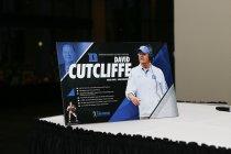 Duke coach David Cutcliffe was the keynote speaker at the 2016 Bronko Nagurski Trophy award banquet. (Photo by Michael Strauss, Strauss Studios.)