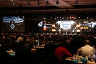 The banquet at the Charlotte Convention Center for the presentation of the 2016 Bronko Nagurski Trophy. (Photo by Michael Strauss, Strauss Studios.)