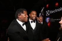 Alabama teammates Reuben Foster (left) and Jonathan Allen were among the five finalists for the 2016 Bronko Nagurski Trophy. (Photo by Michael Strauss, Strauss Studios.)