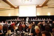 The head table at the Outland Trophy Presentation Banquet on Jan. 11, 2017, in Omaha. Photo by C41 Photography.