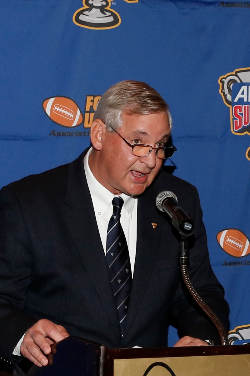 Churck Lapeyre of the Sugar Bowl addresses the audience at the Eddie Robinson Coach of the Year Reception on Jan. 7, 2017, in Tampa. Photo by Melissa Macatee.