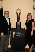 Alan Schmadtke, president of the FWAA in 2005, and his wife, Christie, at the FWAA's Past Presidents Dinner on Jan. 6, 2017, in Tampa. Photo by Melissa Macatee.