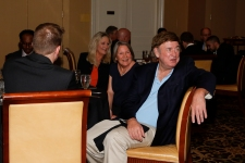 Foreground: Dick Weiss, FWAA president in 2004, and his wife, Joni, at the FWAA's Past Presidents Dinner on Jan. 6, 2017, in Tampa. Photo by Melissa Macatee.