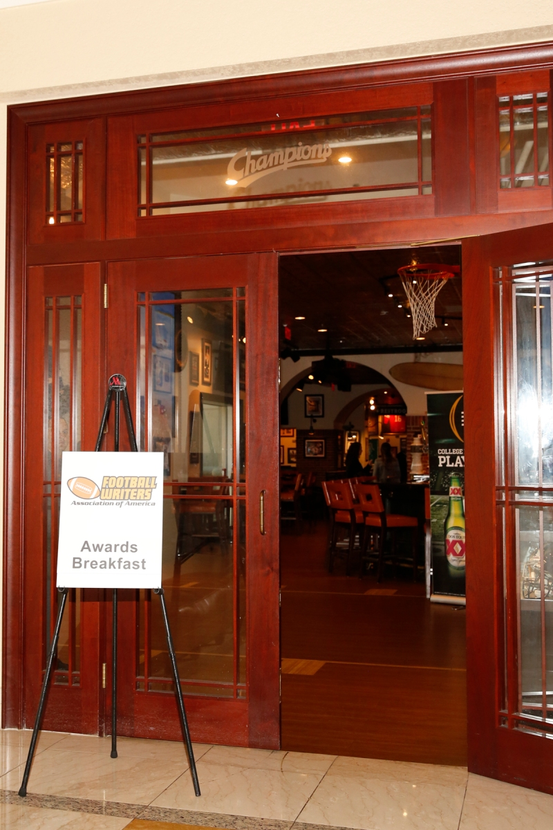Scene of the FWAA's Awards Breakfast at Champions Sports Bar in the Tampa Marriott Waterside Hotel on Jan. 9, 2017. Photo by Melissa Macatee.
