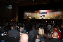 The scene at the presentation banquet for the 2017 Bronko Nagurski Award, sponsored by the Charlotte Touchdown Club. Photo by Michael Strauss.