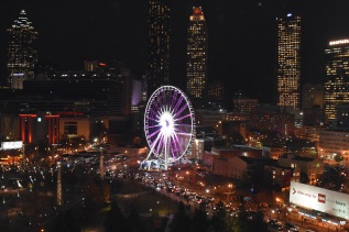 The scene in downtown Atlanta, site of College Football Awards Show. Photo by Andy Crawford.