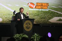 Georgia coach Kirby Smart was the keynote speaker at the 2017 Bronko Nagurski Award presentation banquet. Photo by Michael Strauss.