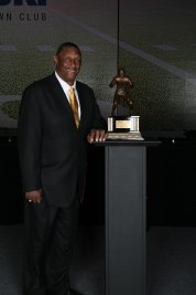 Ross Browner, winner of the 1976 Outland Trophy and this year's winner of the Bronko Nagurski Legends Award. Photo by Michael Strauss.