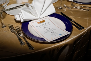 Place setting at the Past Presidents Dinner. Photo by Melissa Macatee.