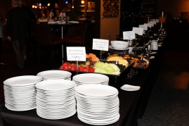 The buffet line at the awards breakfast. Photo by Melissa Macatee.