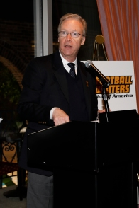 FWAA Board Member Malcolm Moran announces Best Writing Contest winners. Photo by Melissa Macatee.