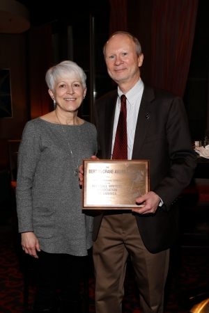 Bert McGrane Award winner Steve Wieberg and his wife, Paula. Photo by Melissa Macatee.