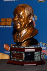 Eddie Robinson Coach of the Year bust. (Photo by Melissa Macatee)