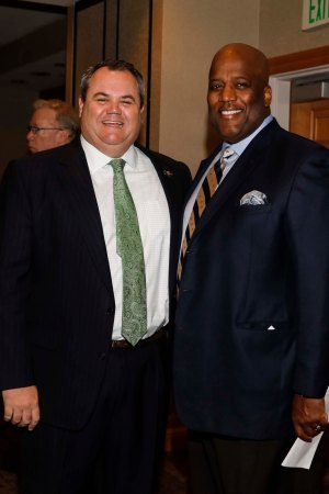 UAB Athletic Director Mark Ingram and Sugar Bowl President Rod West. (Photo by Melissa Macatee)