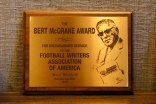 Bert McGrane Plaque. (Photo by Melissa Macatee)