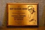 Bert McGrane Plaque. (Photo by Melissa Macatee)