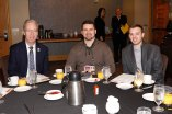 (L-R) Malcolm Moran, Robby General, Josh Roller of the IUPUI Journalism Group. Moran is an FWAA Board Member. (Photo by Melissa Macatee)