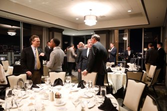 FWAA Past Presidents Dinner Hosted by the National Football Foundation at the Silicon Valley Capital Club. (Photo by Melissa Macatee)