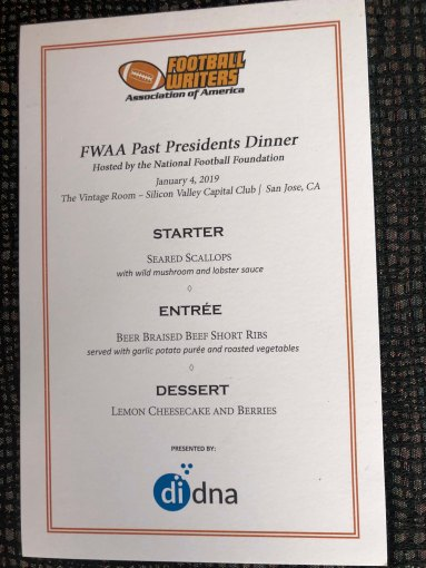 Dinner program. (Photo by Melissa Macatee)