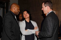 (L-R) Shaun Alexander, Stef Loh and Ivan Maisel. (Photo by Melissa Macatee)