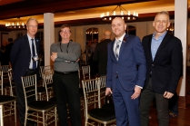 Members attending the award presentation included, left to right, Malcolm Moran, Glenn Guilbeau, 2019 President Matt Fortuna and George Schroeder. (Photo by Melissa Macatee)