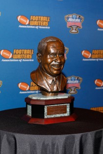 The FWAA/Eddie Robinson Coach of the Year Award sponsored by the Allstate Sugar Bowl. (Photo by Melissa Macatee)