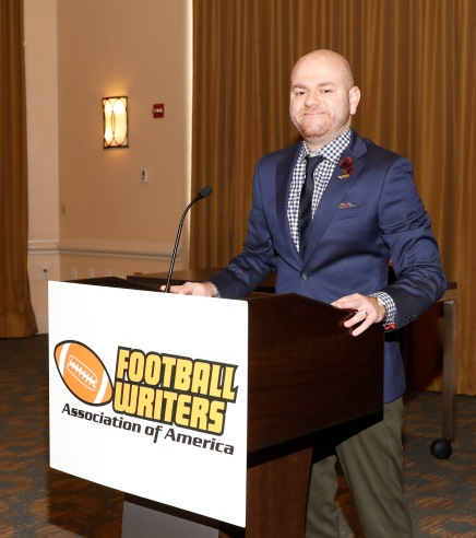2019 FWAA President Matt Fortuna presided over the annual Awards Breakfast. (Photo by Melissa Macatee)