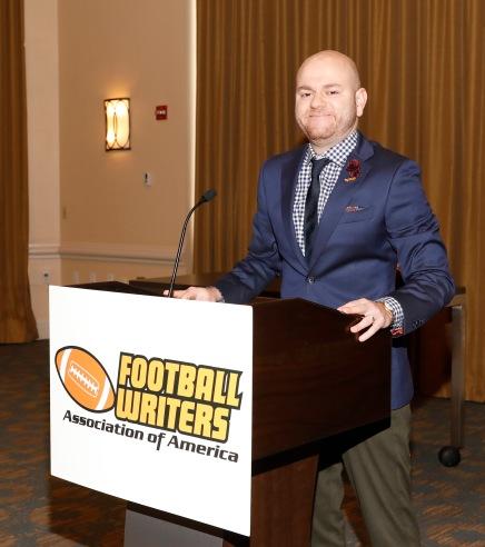 2019 FWAA President Matt Fortuna presided over the annual Awards Breakfast. (Photo by Melissa Macatee)