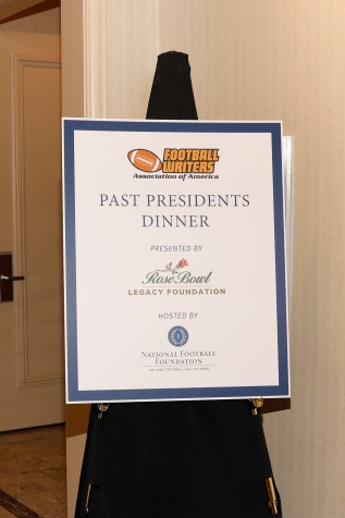 Welcome to the FWAA Past Presidents Dinner, presented by the Rose Bowl Legacy Foundation. (Photo by Melissa Macatee)