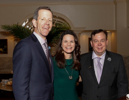 1995 FWAA President Ivan Maisel, 2020 First Vice President Heather Dinich and 1998 President Tony Barnhart. (Photo by Melissa Macatee)